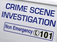 Ricerca della scena del crimine Fotografia Stock
