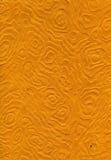 Struttura della carta di riso - mandale arancio Fotografia Stock Libera da Diritti