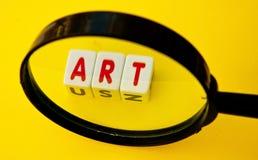Ricerca di arte Fotografia Stock