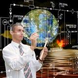 Ricerca di astronomia di ingegneria Immagini Stock Libere da Diritti