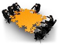 Ricerca di Businessmans della soluzione Immagine Stock Libera da Diritti