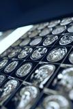 Ricerca di cervello umano sulla scatola di vista nell'ufficio del ` s di medico fotografia stock libera da diritti
