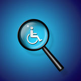 Ricerca di handicap royalty illustrazione gratis
