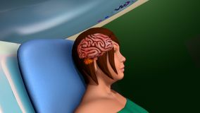 Ricerca di imaging a risonanza magnetica (risonanza magnetica) Fotografie Stock Libere da Diritti