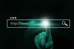 Ricerca di Internet Immagini Stock Libere da Diritti