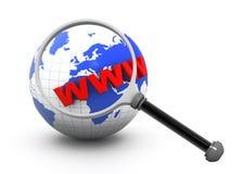 Ricerca di Internet Fotografia Stock