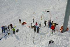Ricerca di salvataggio di Avalanch immagini stock libere da diritti