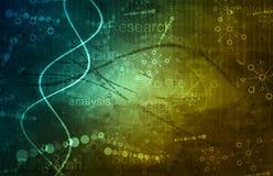 Ricerca di scienza come concetto per la presentazione Fotografia Stock