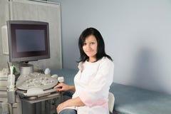 Ricerca di ultrasuono Fotografie Stock Libere da Diritti