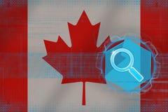 Ricerca di web del Canada Concetto di ricerca di Digital Immagine Stock Libera da Diritti