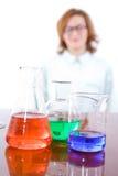 Ricerca e concetto chimici di chimica fotografia stock