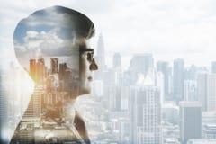 Ricerca e concetto di futuro immagini stock