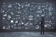 Ricerca e concetto di successo illustrazione di stock