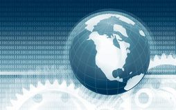 Ricerca globale di dati e di informazioni Immagini Stock