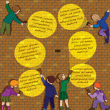 Ricerca Infographic con i bambini illustrazione di stock