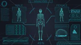 Ricerca medica futuristica dello schermo illustrazione di stock