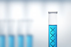 Ricerca o prova del DNA in un laboratorio Fotografia Stock