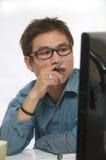 Ricercando sul Internet Immagine Stock