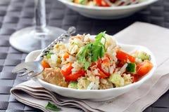 ricesalladtonfisk Arkivfoto