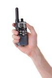 Ricetrasmettitore portatile della radio a frequenza ultraelevata immagini stock libere da diritti