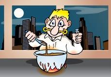 Ricetta del cuoco unico Fotografie Stock Libere da Diritti