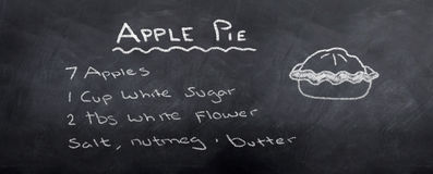 Ricetta del grafico a torta di Apple Fotografie Stock