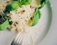 ricetta del risotto del fungo immagine stock