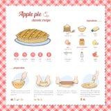 Ricetta della torta di mele Fotografie Stock