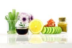 Ricetta di cura di pelle di bellezza dall'ingrediente naturale Immagine Stock
