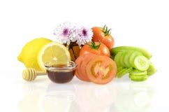 Ricetta di cura di pelle di bellezza dall'ingrediente naturale Fotografie Stock