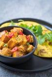 Ricetta di Roti del curry fotografia stock