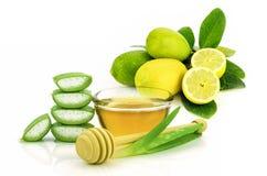 Ricetta naturale di cura del facial, della pelle e di capelli Immagini Stock