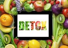 Ricette di piano di dieta della disintossicazione Immagini Stock