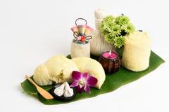 Ricette facciali della maschera dell'acne con la frutta del Durian ed il carbonato di calcio Fotografia Stock Libera da Diritti