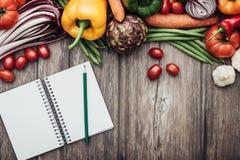 Ricette vegetariane fotografia stock libera da diritti