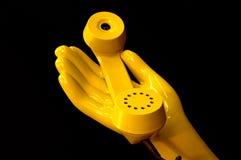 Ricevente gialla Fotografia Stock Libera da Diritti