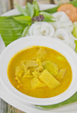 Ricevermicelli med curry Royaltyfri Fotografi