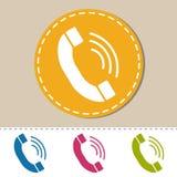 Ricevitore telefonico - illustrazione variopinta dell'icona di vettore - isolato su bianco Fotografie Stock
