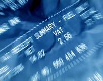 Ricevuta di IVA Immagini Stock Libere da Diritti