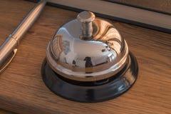 Ricezione Bell dell'hotel Fotografia Stock Libera da Diritti