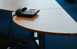 Ricezione concentrare fresca della tavola del telefono dell'ufficio immagine stock