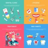 Ricezione del dentista Illustrazioni di concetto di sanità messe illustrazione vettoriale