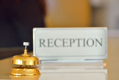 Ricezione dell'hotel Fotografie Stock Libere da Diritti
