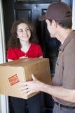Ricezione della consegna a domicilio Fotografie Stock Libere da Diritti