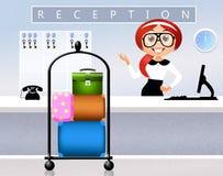 Ricezione in hotel illustrazione vettoriale