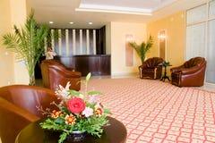 Ricezione moderna dell'hotel Fotografia Stock