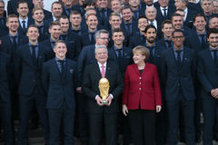 Ricezione per la squadra di football americano nazionale tedesca Immagine Stock