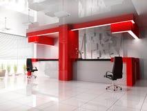 Ricezione rossa in hotel moderno Fotografia Stock