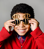 Rich american african boy Royalty Free Stock Photos