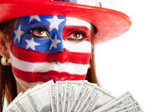 Rich American woman Stock Photography